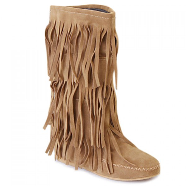 Fringe Design Boots