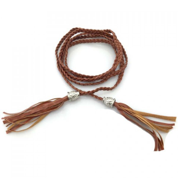 Stylish Tassel Pendant Weaving Waist Rope For Women