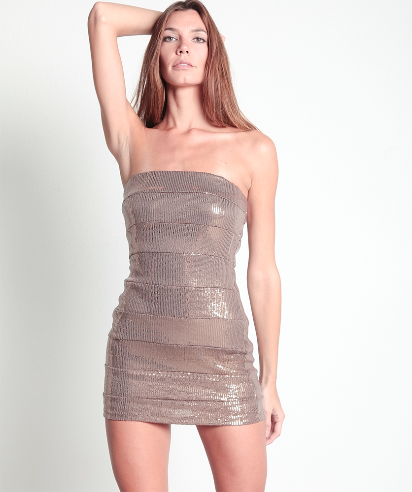 Strapless Bronze Dress
