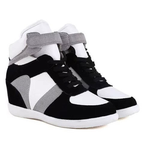 Fashion Women's Athletic Shoes With Color Block and Hook Design