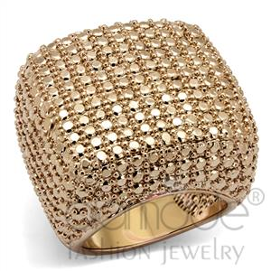 IP Rose Gold(Ion Plating) AAA Grade CZ Ring