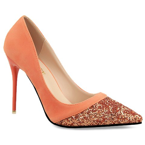 Sexy Women's Pumps With Sequined and Splicing Design