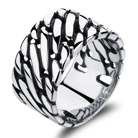 Retro Stainless Steel Punk Style Ring For Men