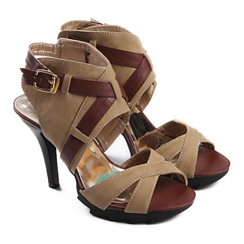 Fashion Women's Sandals With Buckle and Color Matching Design