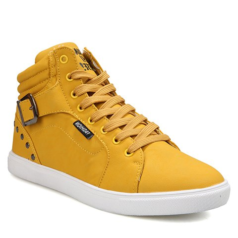 Stylish Men's Casual Shoes With Buckle and Rivets Design