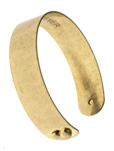 I Love You Forever Gold Tone Metal Cuff Bracelet