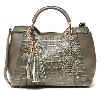 Fashion Shoulder Handbag Croco Print