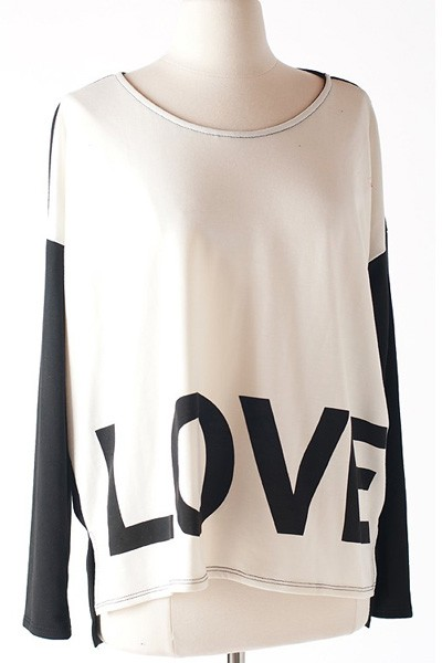 Graphic Love Long Sleeve Top