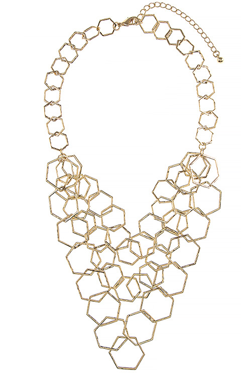 LINKED MULTI GEOMETRIC LINK NECKLACE SET