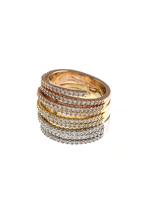 MULTI TIERED CZ LINED RING