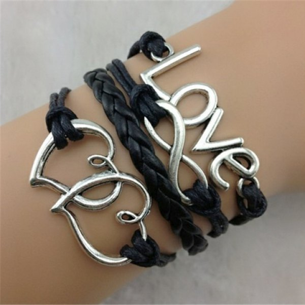 Simple Love Heart Layered Bracelet For Women