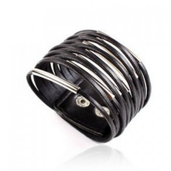 Multi-Layered PU Leather Bracelet