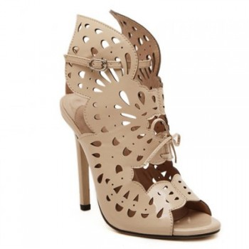 Sexy Style Openwork and Stiletto Heel Design Women's Sandals