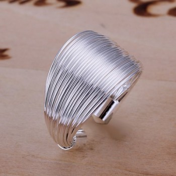 Fashionable Silver Plated Coil Ring