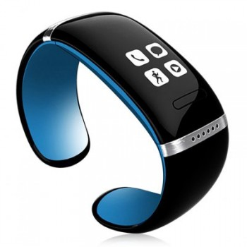 Smart Design OLED Bluetooth 3.0 Bracelet Watch with Call ID Display / Answer / Dial / SMS Sync / Anti-lost / Music Player for Samsung / HTC / Blackber