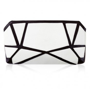 Trendy Women's Clutch Bag With Geometric Print and Color Block Design