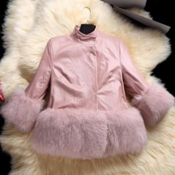 Fashionable Fur Spliced Coat