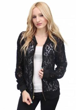Black Zip-Up Lace Jacket