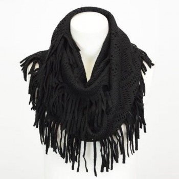 Stylish Hollow Out Small Hole Tassel Knitted Neck Warmer For Women
