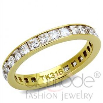 Stainless Steel AAA Grade CZ Ring
