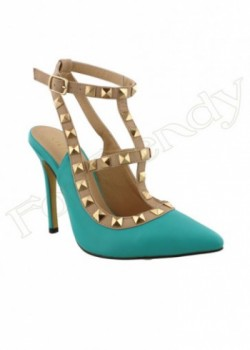 Georgeous Turquoise Heels Wagner-22-IN
