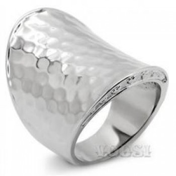 Ladys Stainless Steel High Polish No Stone Ring