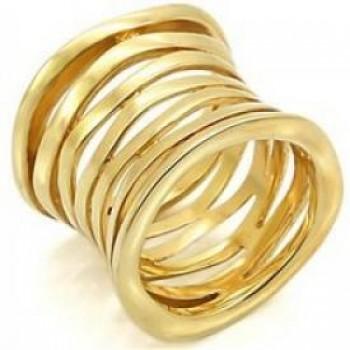 Ladys Rings Brass Gold Plating