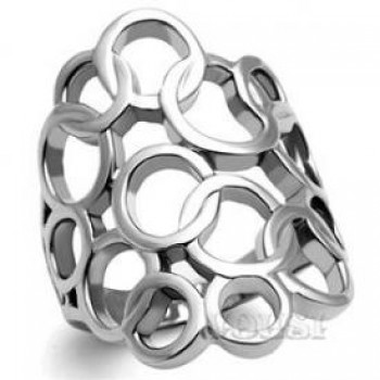 Stainless Steel High Polish Ladys Ring