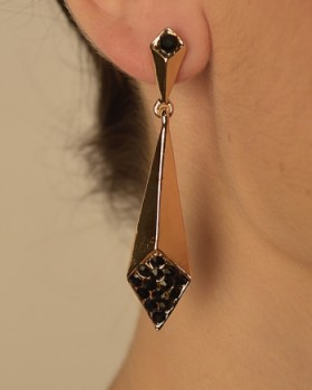 Diamond Shaped Drop Earrings