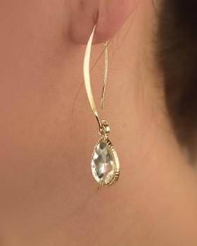 Crystal Pave Drop Earrings