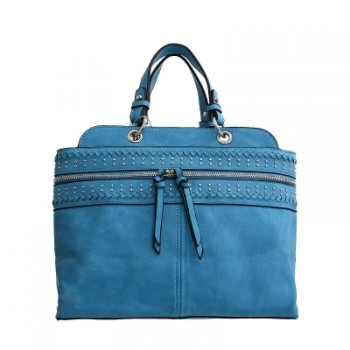 Blue David Jones Satchel Handbag