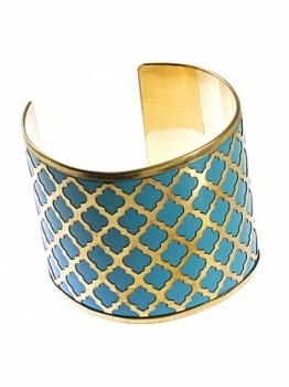 Quatrefoil Metal Bracelet