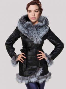 Faux Leather Coat For Women