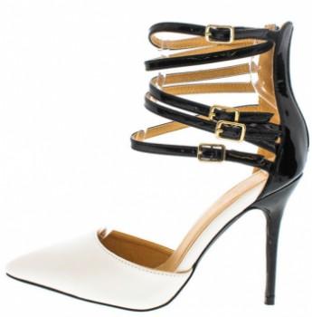 Nikki Black White Women's Heel