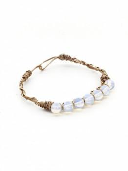 Wire Wrapped Stone Bracelet