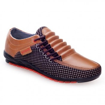 Fashion Men's Casual Shoes With Splicing and Round Toe Design