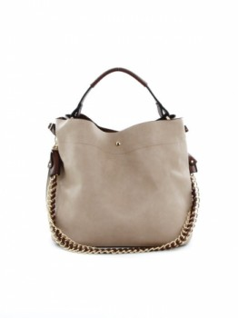 Solid Double Bag Tote