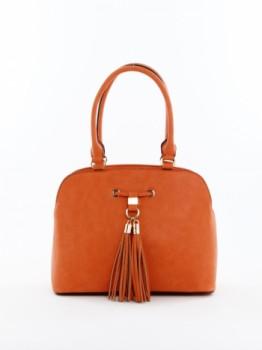 Kiss Lock Tassel Shoulder Bag