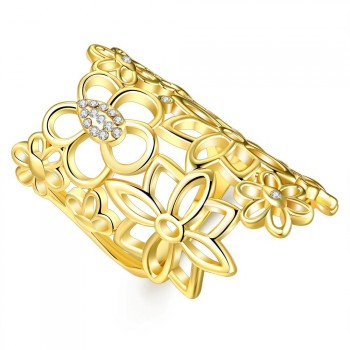 Fashion Jewelry 18K Gold Plated Ring