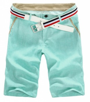 Casual Style Slimming Button Embellished Linen Shorts For Men