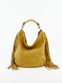 Fringe Design Hobo Handbag