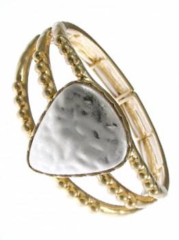2-tone, Hammered Bracelet
