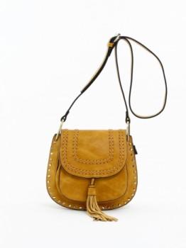 Studded Cross Body Bag with Tassel