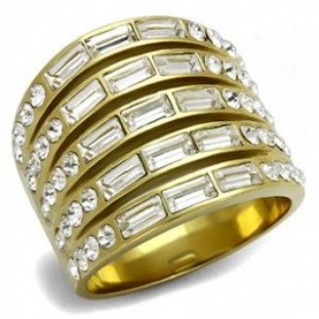Women Gold Crystal Statement Ring