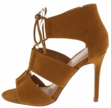 KEEN CHESTNUT LACE UP SINGLE SOLE HEELS ONLY $10.88