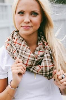 Lightweight tartan scarves