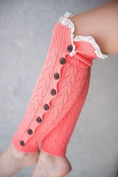 Button filled leg warmers