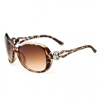 Stylish Circular Ring Matching Design Hollow Out Sunglasses For Women